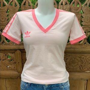 Deadstock ADIDAS Baby Pink Soccer V Tee Shirt